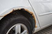 istock Rusty car wing. 848263956