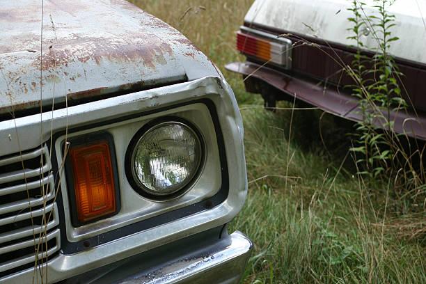 rusty cars stock photo