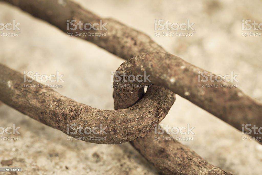 Rusty Chain Closeup stock photo