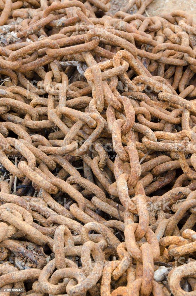 Rusty Chain Links stock photo