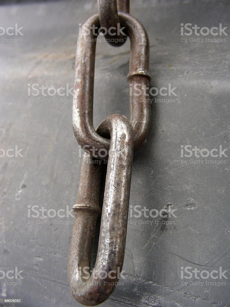 Rusty Chain Links royalty-free stock photo