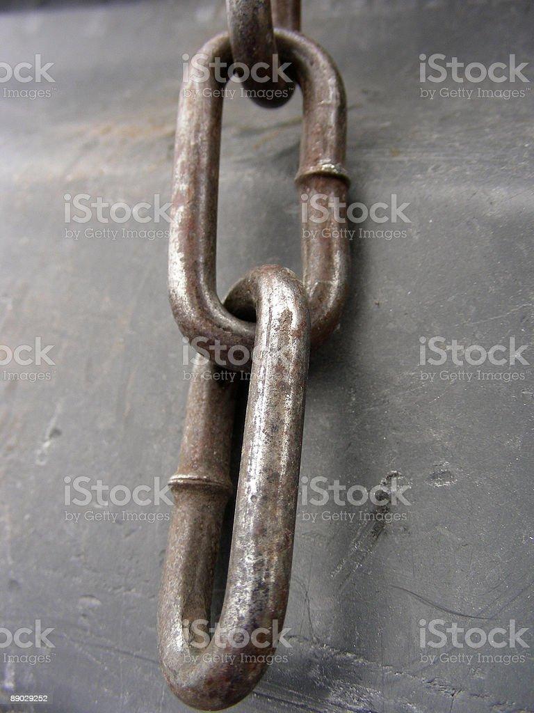 Rusty Kette Links Lizenzfreies stock-foto