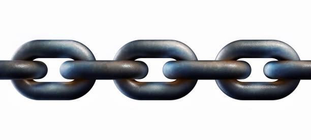 rusty chain - anello catena foto e immagini stock