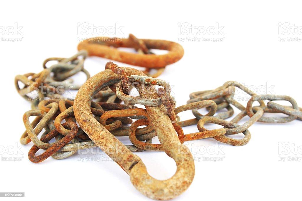 Rusty chain royalty-free stock photo