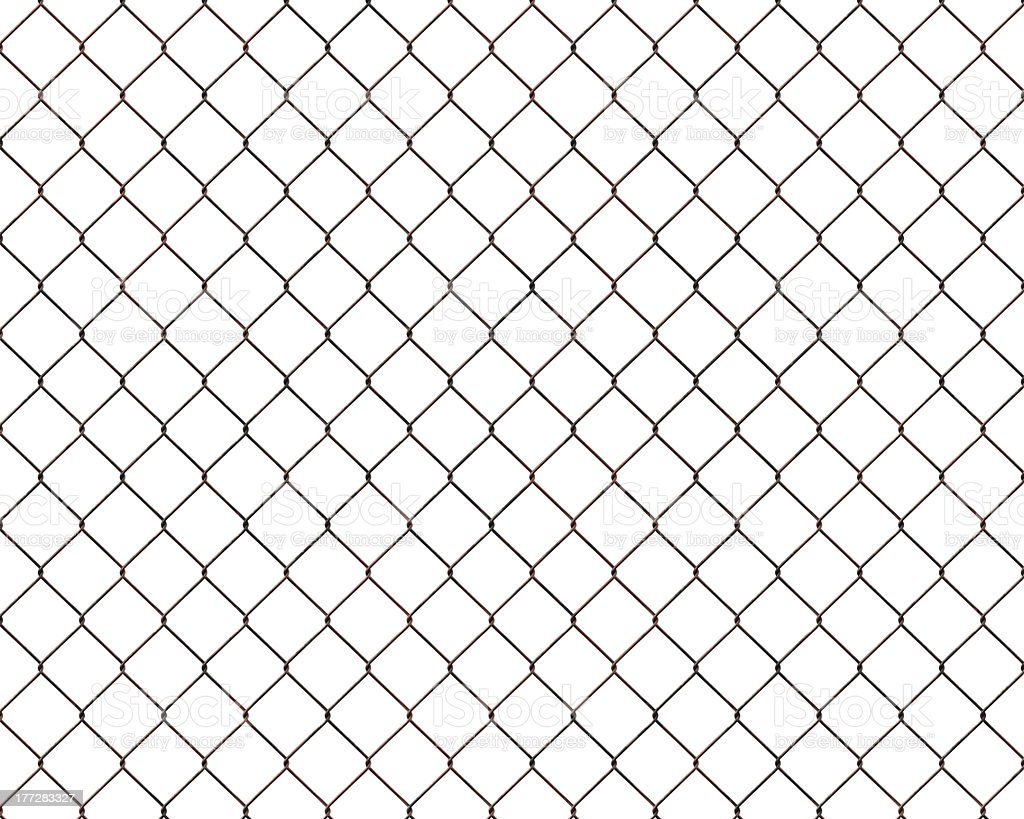 Rusty chainlink fence stock photo
