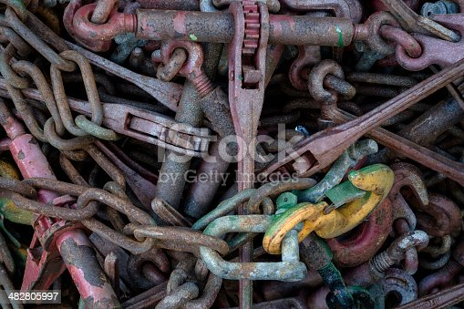 Rusty chains.