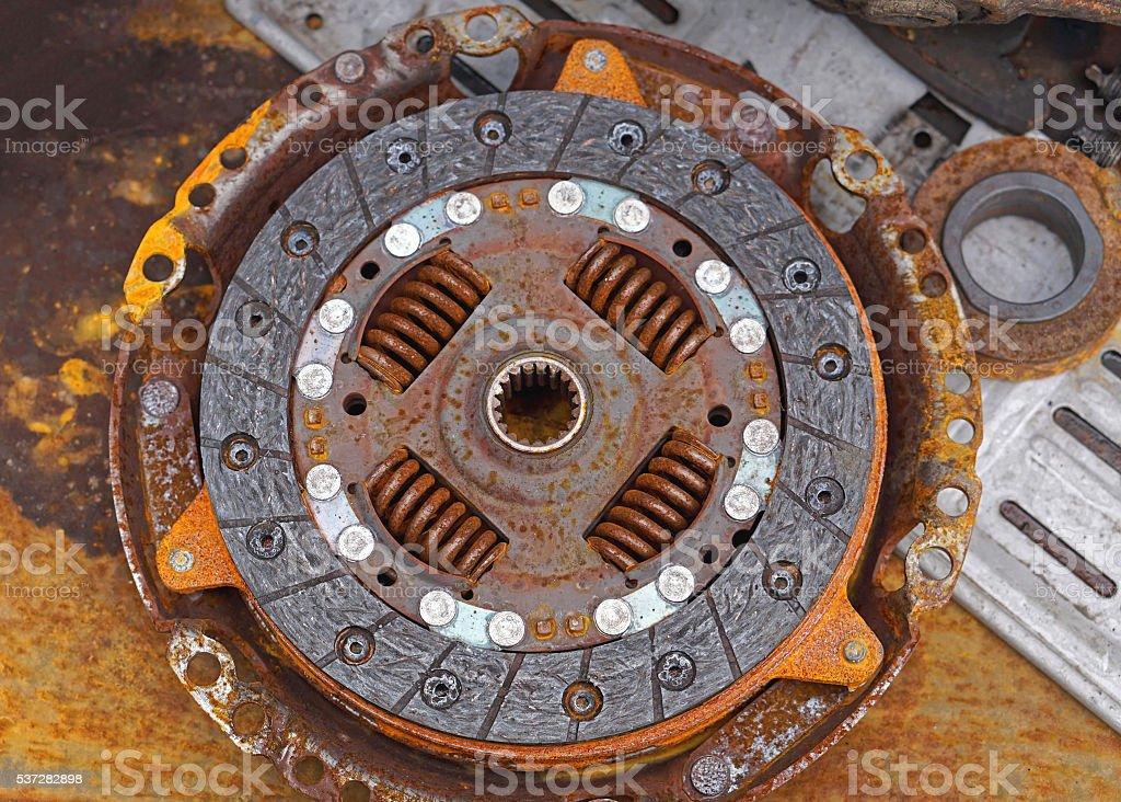 Rusty clutch stock photo