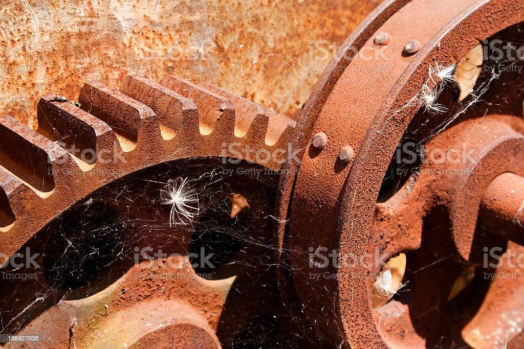 Rusty Cog Wheels stock photo