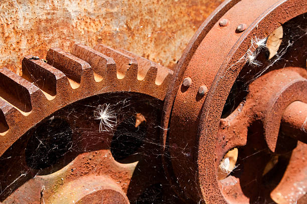 Rusty Cog Wheels stock photo