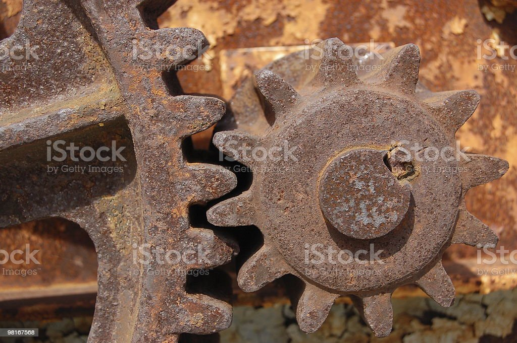 Rusty Cogs royalty-free stock photo