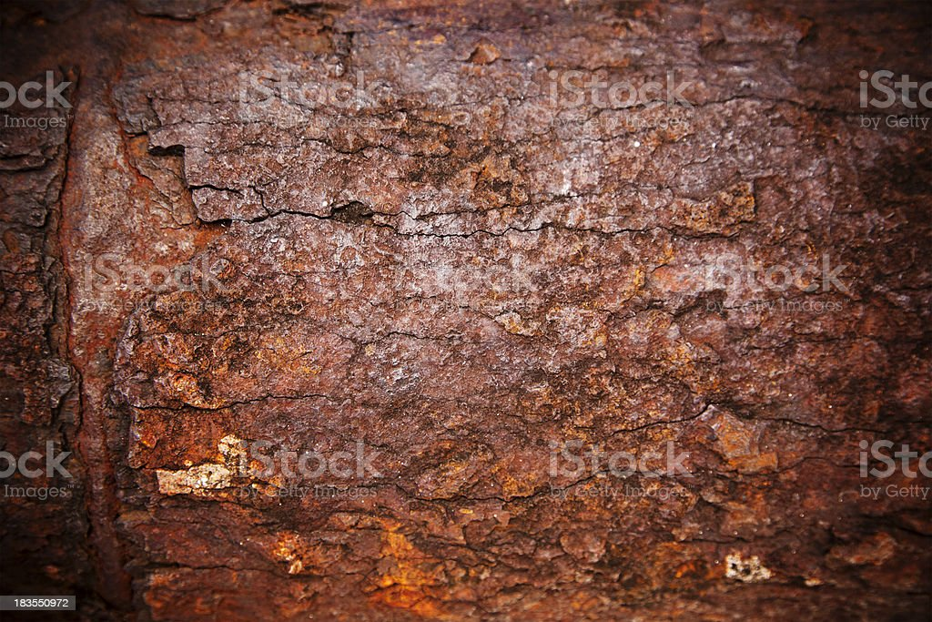 Rusty copper surface royalty-free stock photo