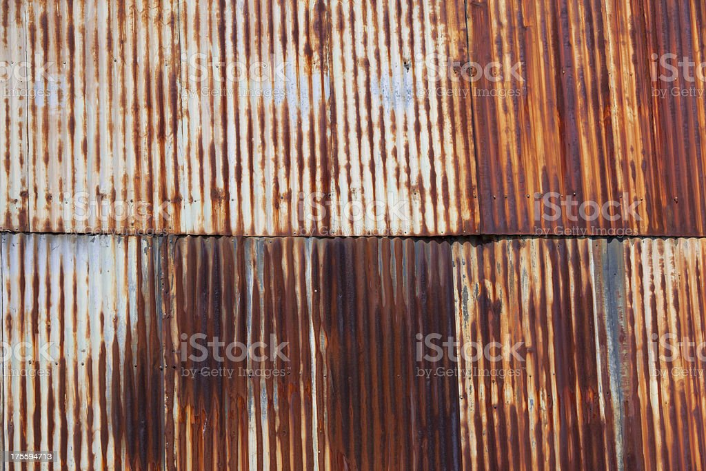 Rusty Corrugated Siding stock photo
