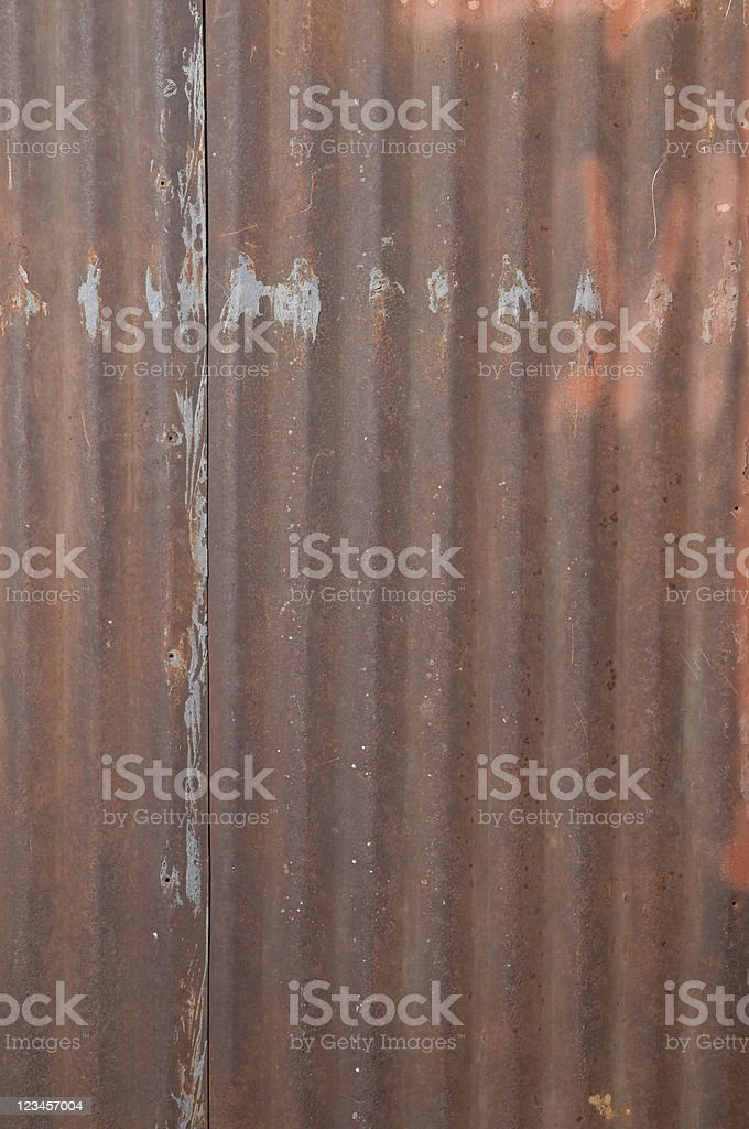 Rusty Corrugated Steel as Background V royalty-free stock photo