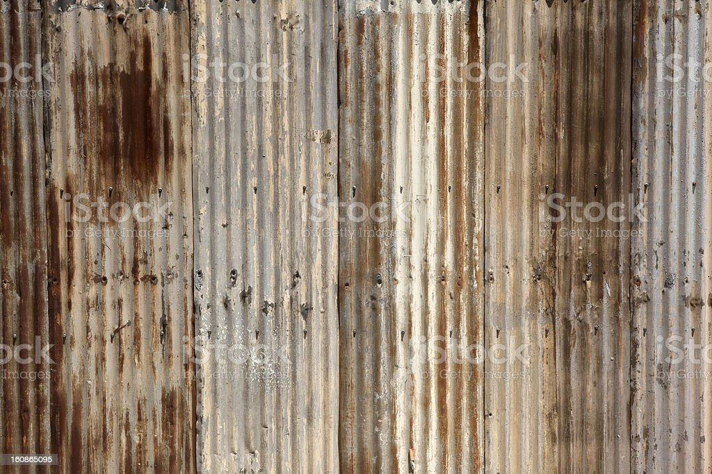 Rusty corrugated steel background stock photo