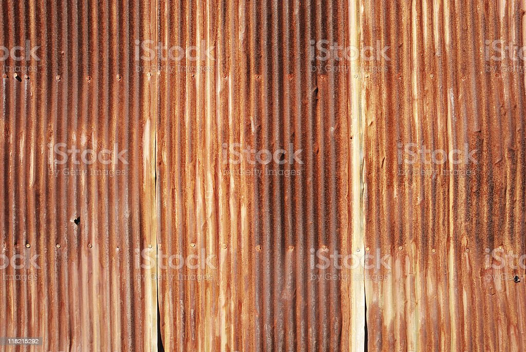 Rusty corrugated tin royalty-free stock photo