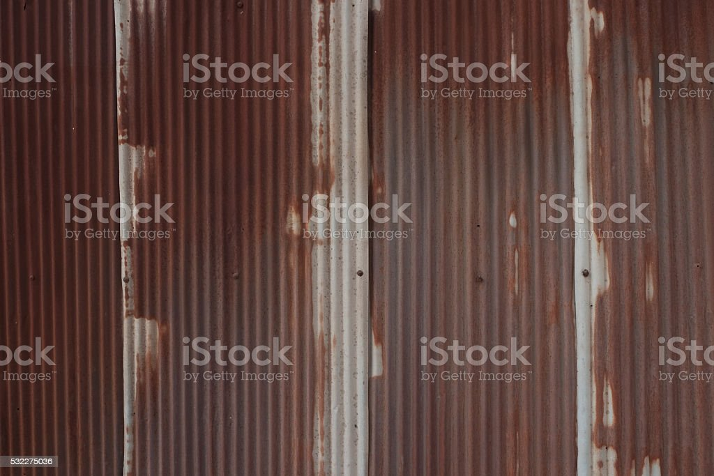 Rusty corruged metal sheet background stock photo