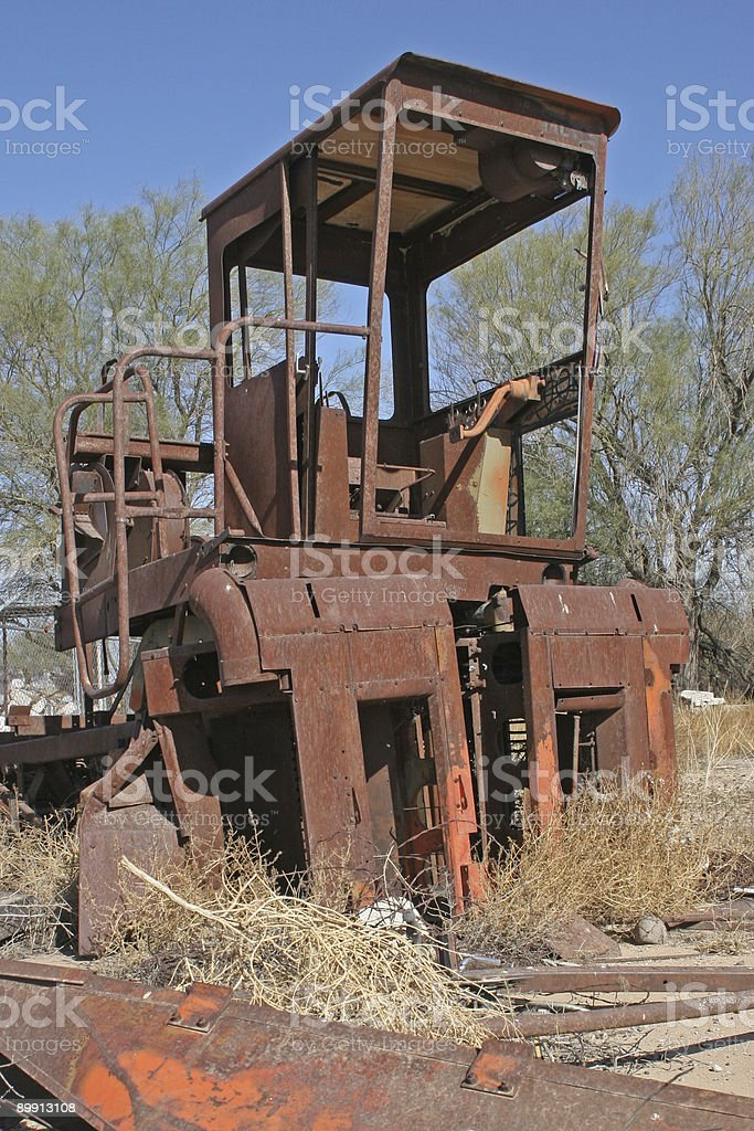 rusty cottonpicker royalty-free stock photo