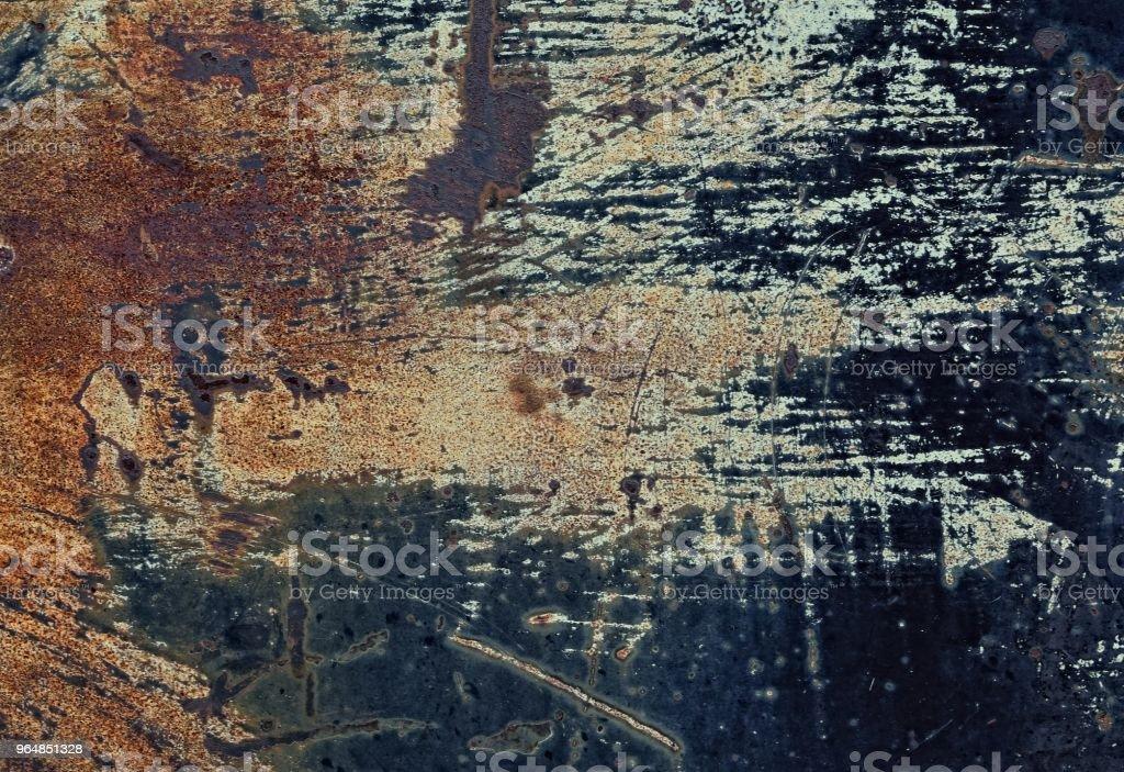 Rusty damaged metal sheet. royalty-free stock photo