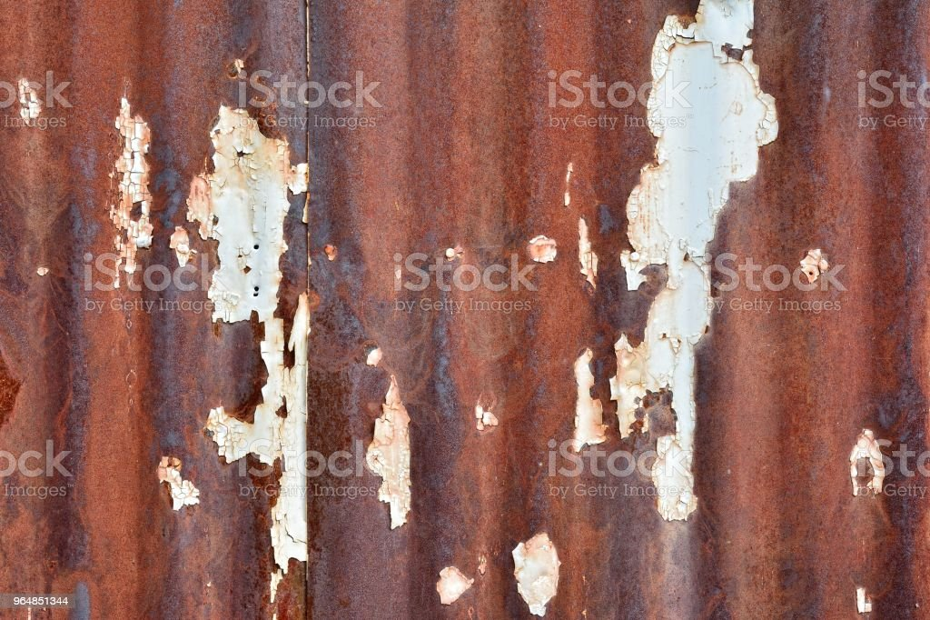 Rusty damaged metal sheet. royalty-free stock photo