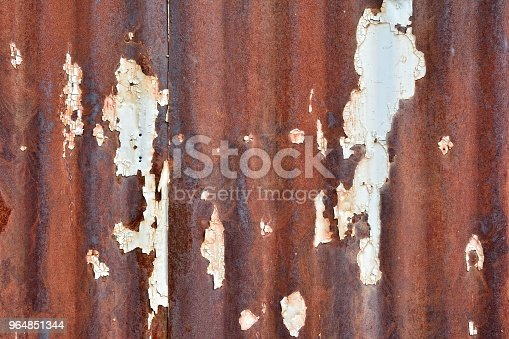 Rusty Damaged Metal Sheet Stock Photo & More Pictures of Abstract