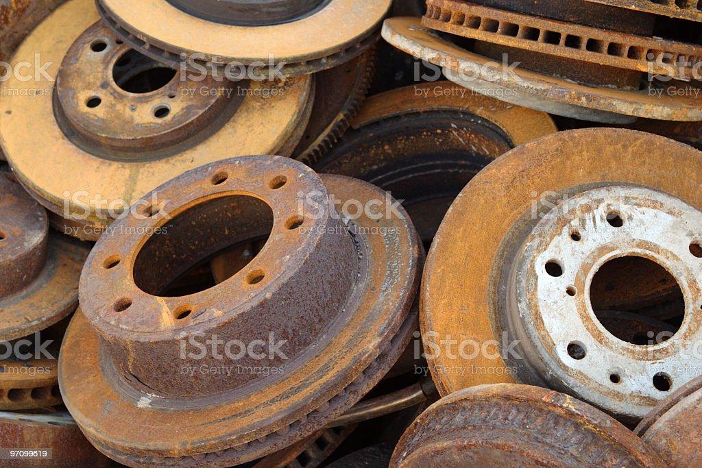 Rusty Disc Brakes royalty-free stock photo
