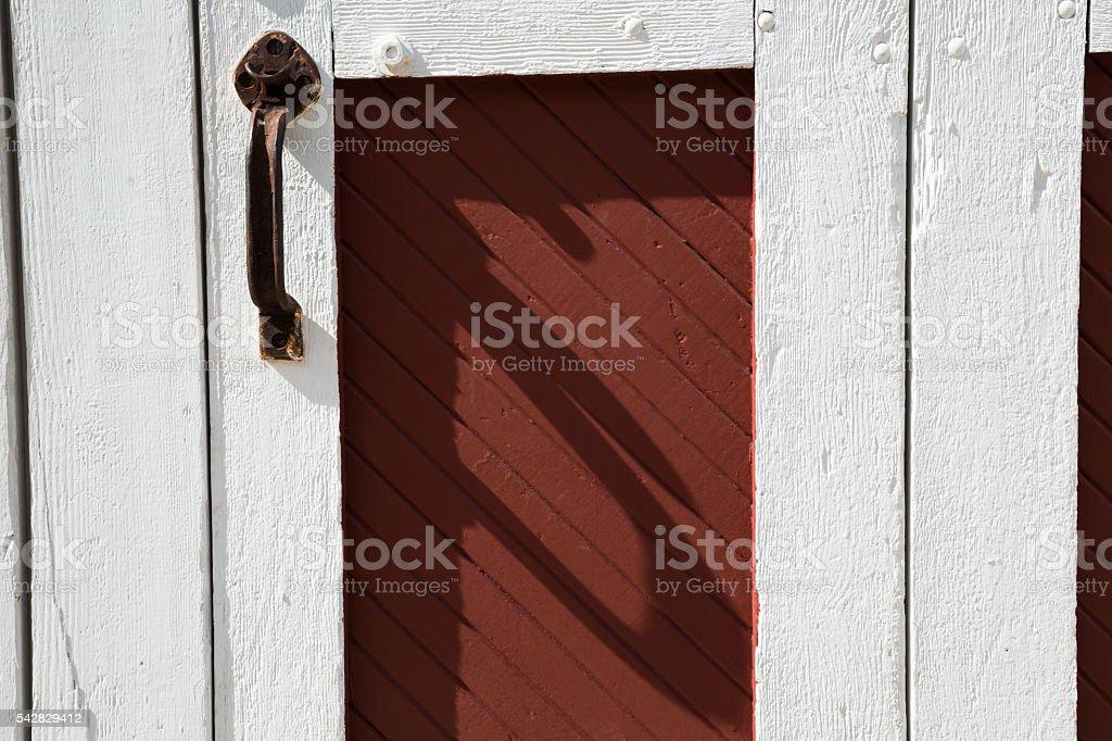 Rusty Door Handle On Repainted Old Door stock photo | iStock