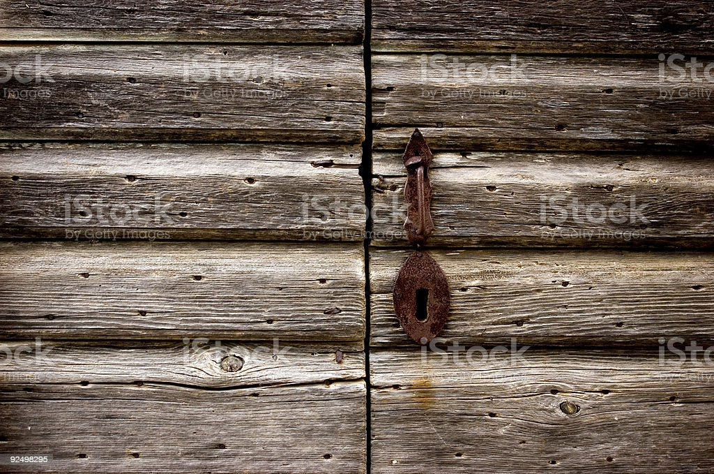 rusty door handle royalty-free stock photo