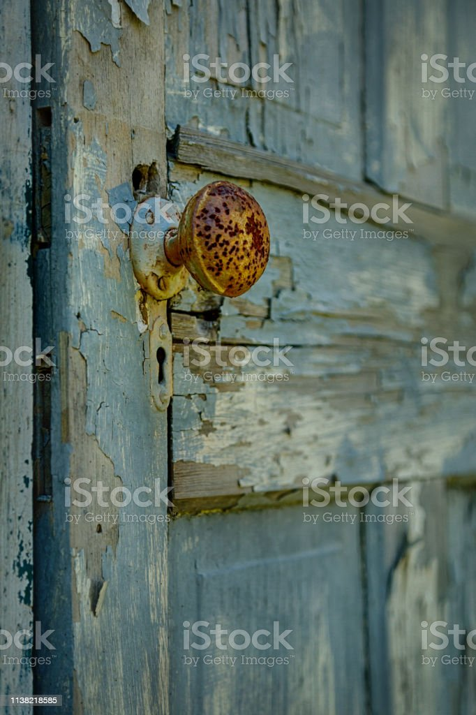 Rusty Doorknob stock photo