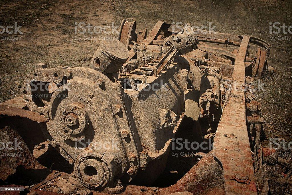 Rusty engine royalty-free stock photo