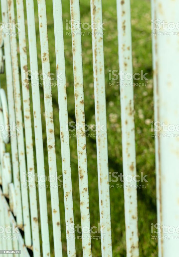 Rusty fence stock photo