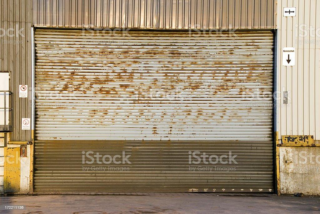 rusty garage stock photo