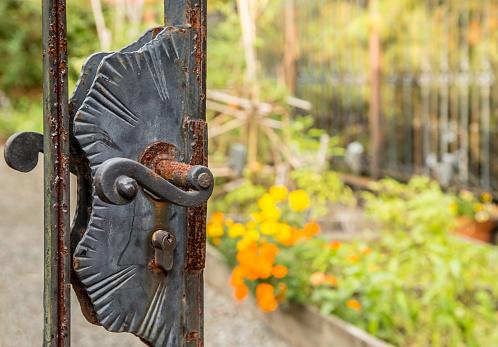 Rusty Garden Door
