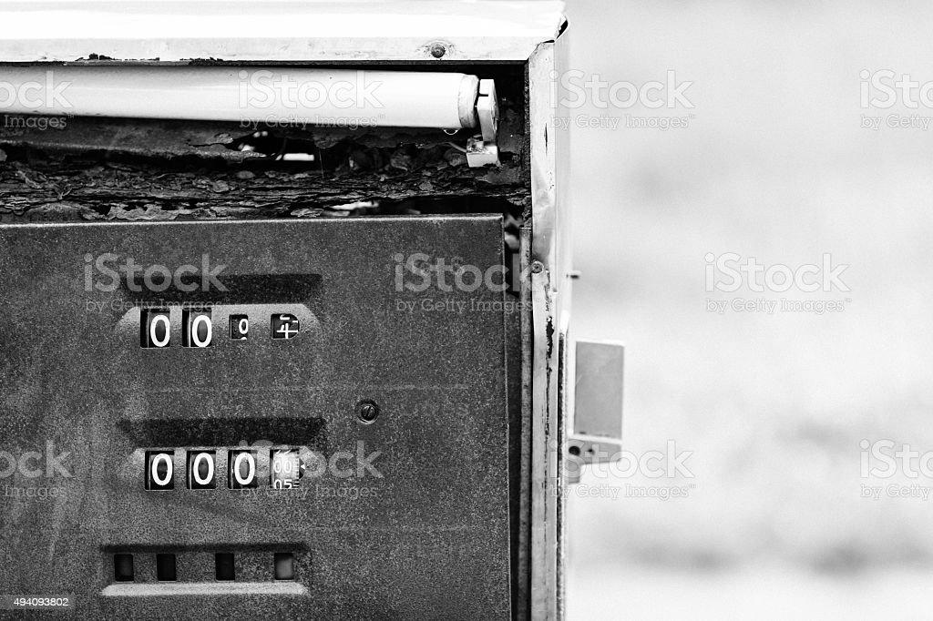 Rusty Gas Pump stock photo