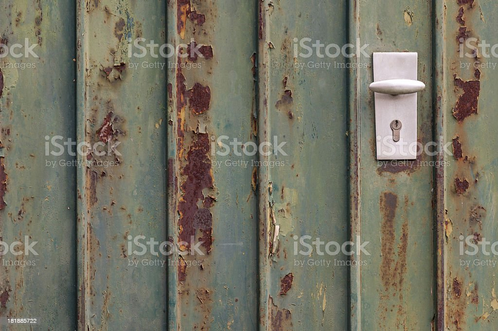 rusty gate royalty-free stock photo