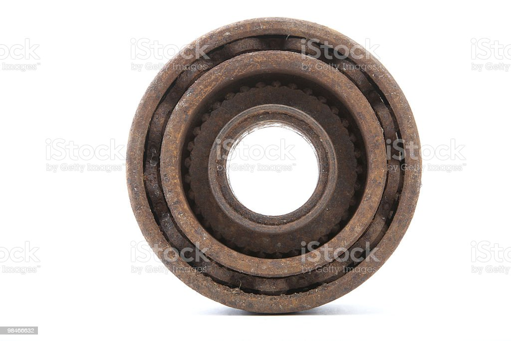Rusty gears on a white background royalty-free stock photo