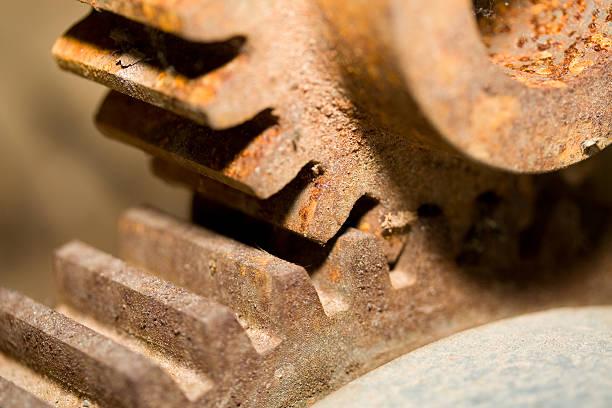 Rusty Gears stock photo