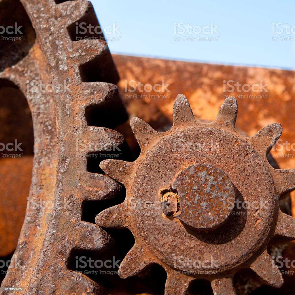 Rusty Gears royalty-free stock photo