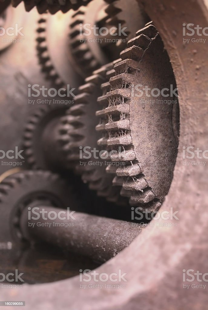 Rusty gears royalty-free stock photo