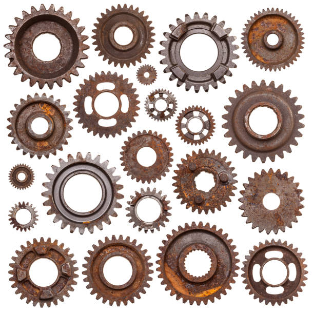 rusty gears - cog stock photos and pictures