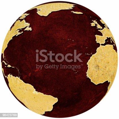 171057063istockphoto Rusty globe on red grungey background showing Atlantic Rim 95423769