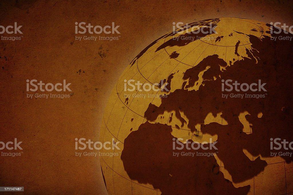 Rusty Globe royalty-free stock photo