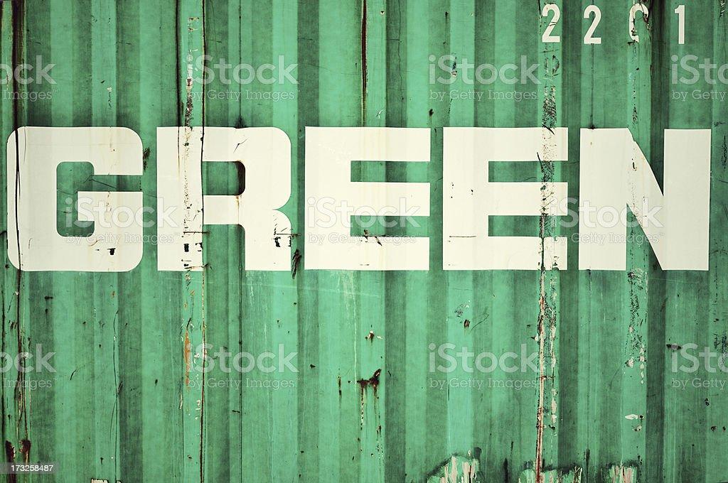 Rusty green royalty-free stock photo