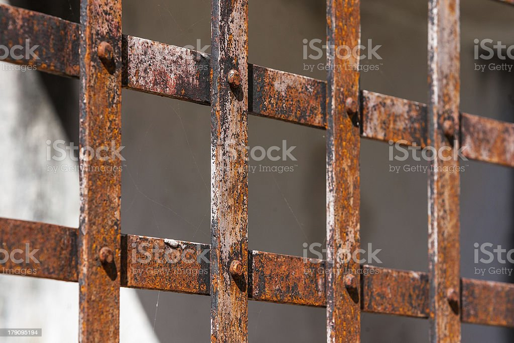 Rusty grid royalty-free stock photo