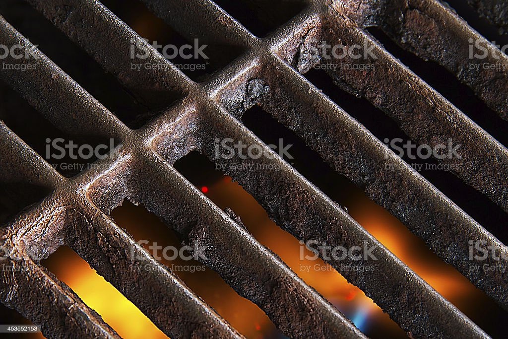 Rusty Grill Grate stock photo