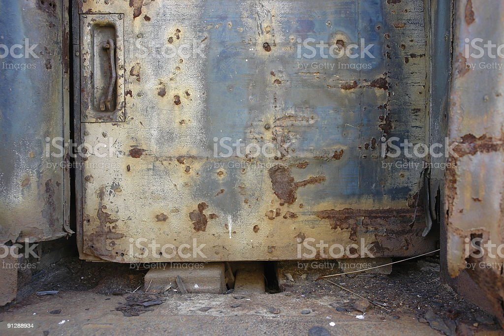 Rusty Grunge Metal Door royalty-free stock photo