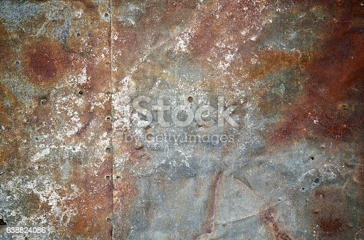 94372741 istock photo Rusty grunge old empty sheet metal wall texture background 638824086