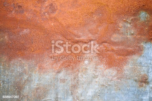 94372741 istock photo Rusty grunge old empty sheet metal wall texture background 638947092