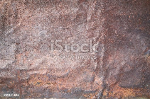 94372741 istock photo Rusty grunge old empty sheet metal wall texture background 638998134