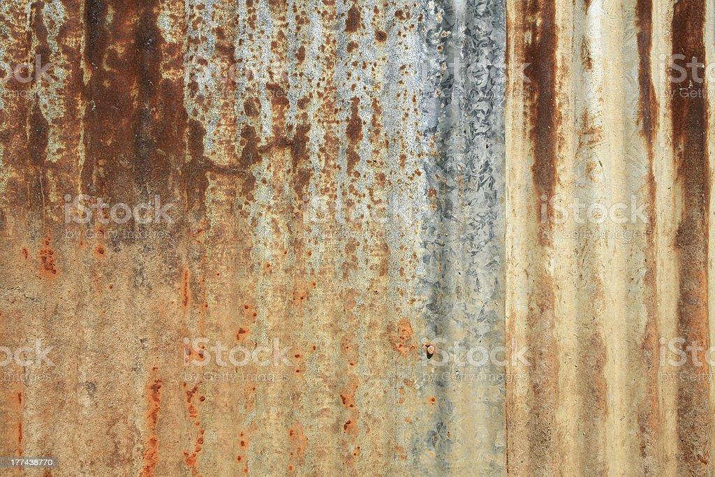 Rusty grunge zinc wall royalty-free stock photo
