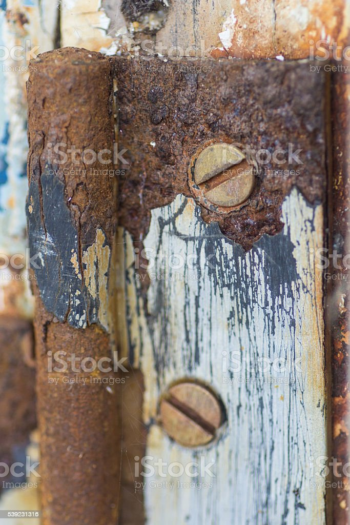 Rusty Hinge royalty-free stock photo